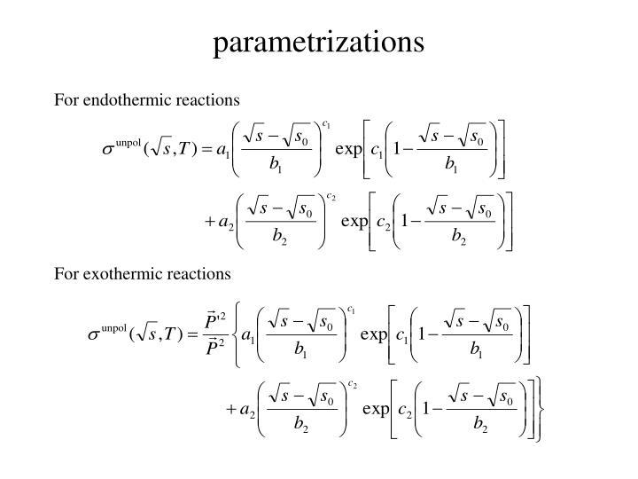 parametrizations