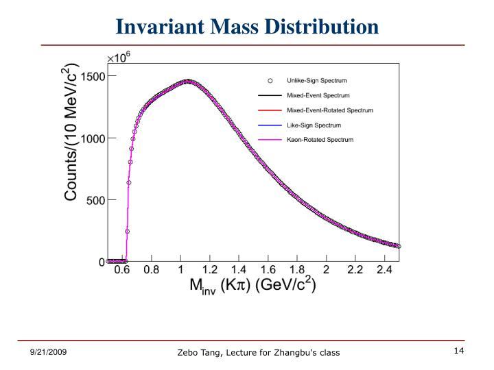 Invariant Mass Distribution