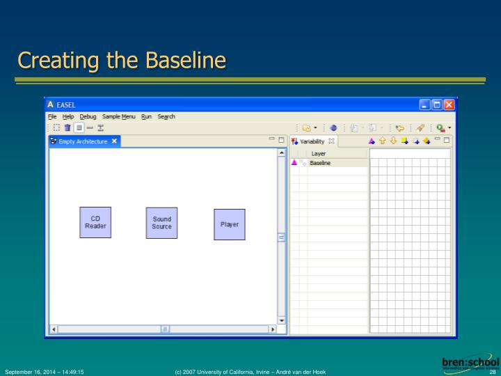 Creating the Baseline