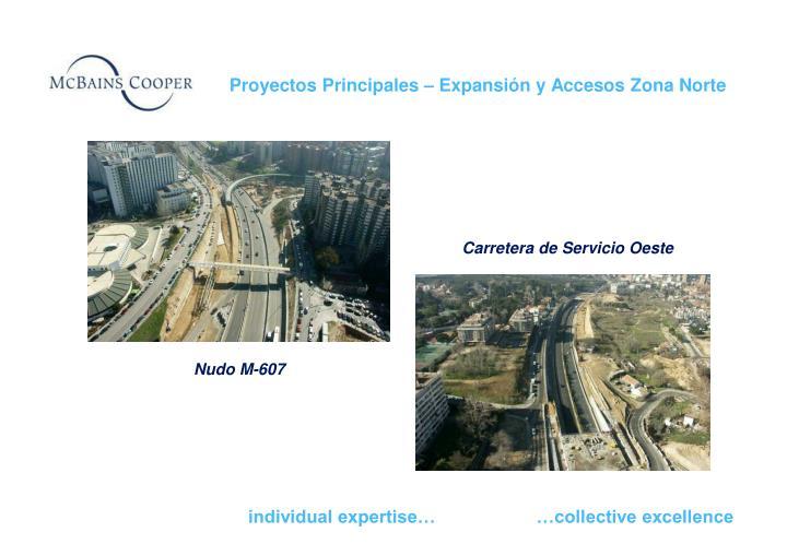 Proyectos Principales – Expansión y Accesos Zona Norte