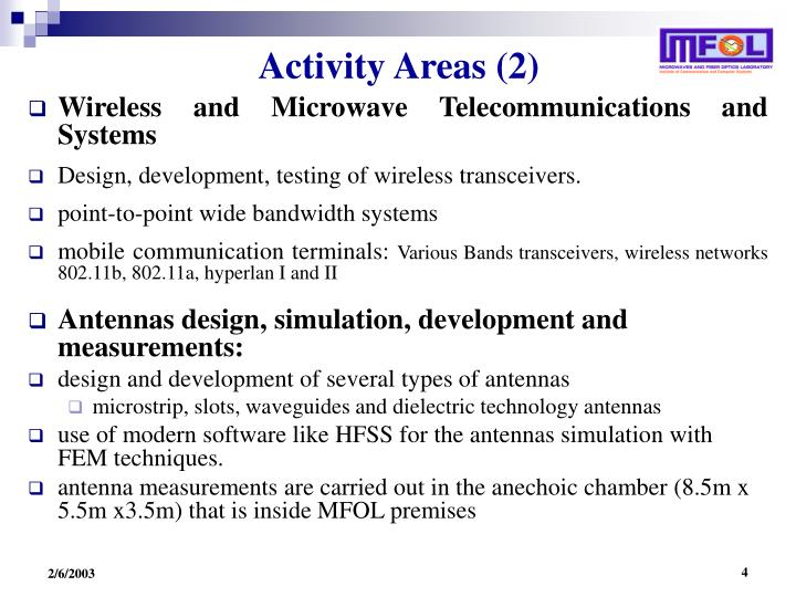 Activity Areas (2)