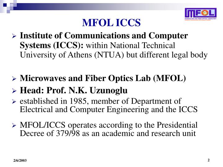 MFOL ICCS