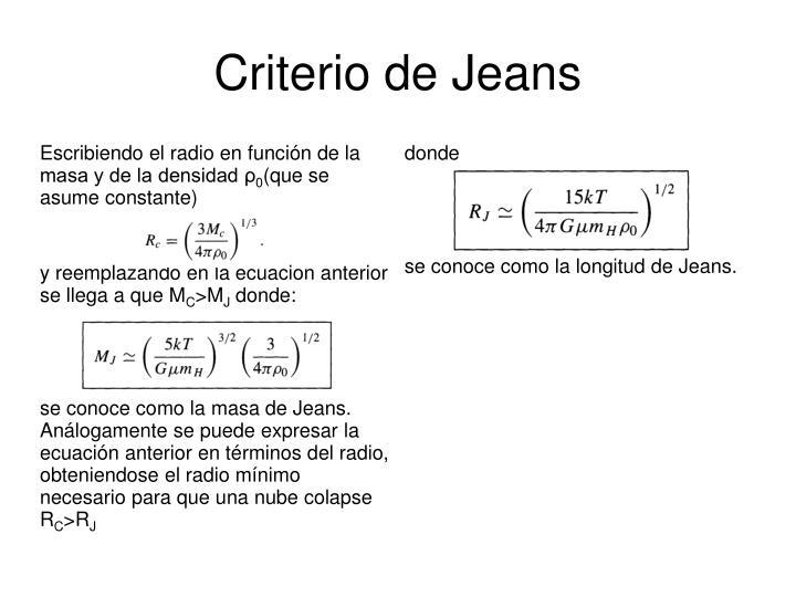 Criterio de Jeans