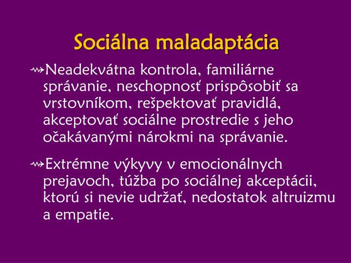 Sociálna maladaptácia