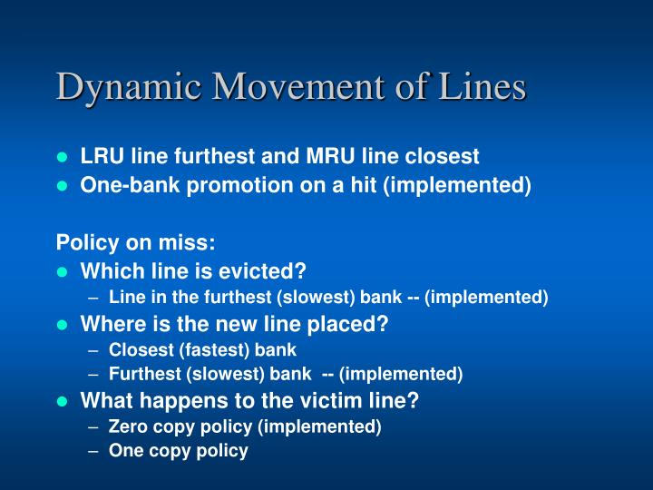 Dynamic Movement of Lines