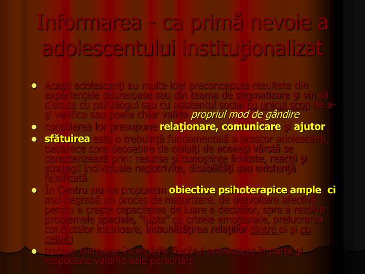 Informarea