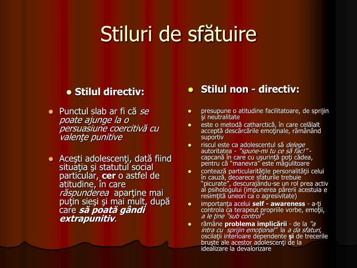 Stilul directiv: