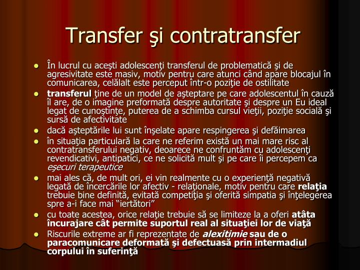 Transfer şi contratransfer