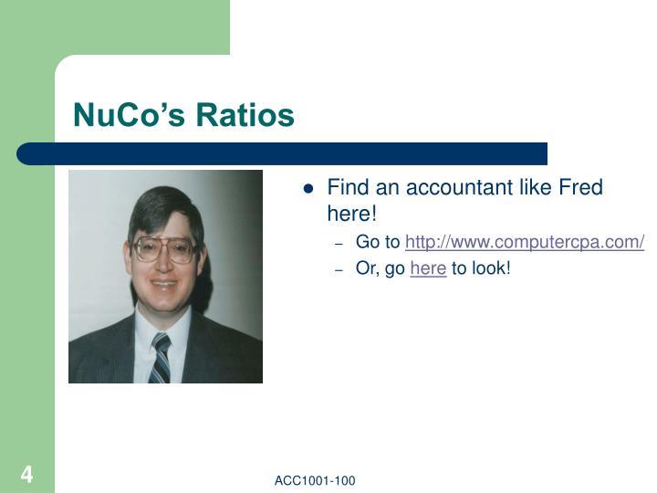NuCo's Ratios