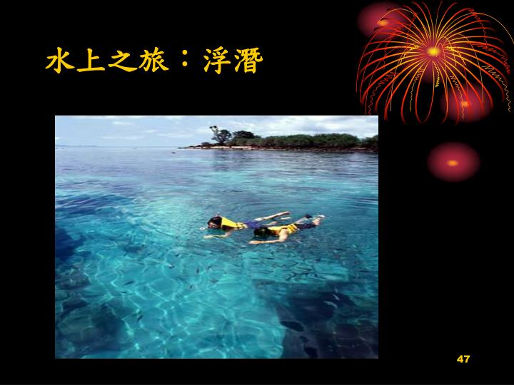 水上之旅:浮潛