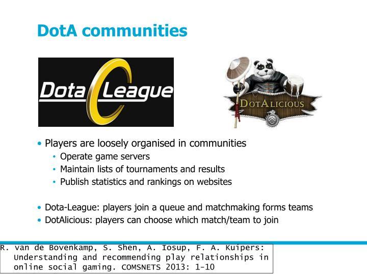 DotA communities