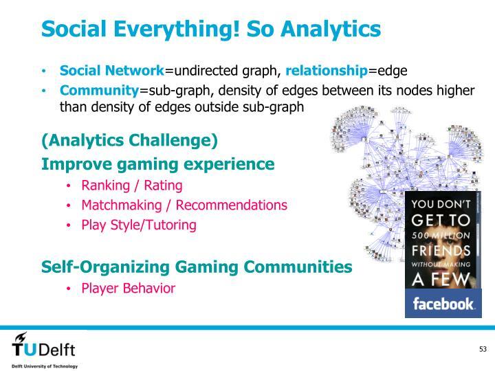 Social Everything! So Analytics