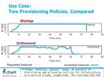 use case two provisioning policies compared