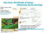 use case workloads of zynga massively social gaming