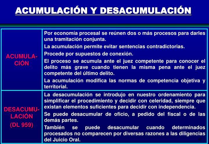 ACUMULACIÓN Y DESACUMULACIÓN