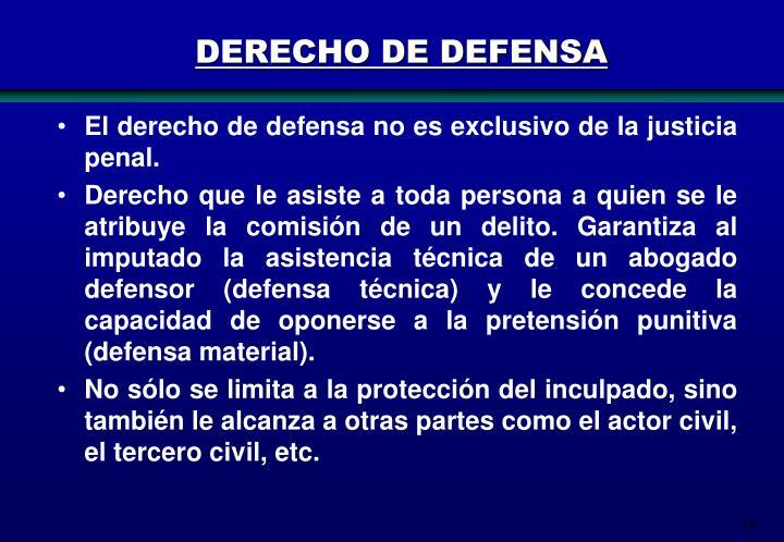 DERECHO DE DEFENSA