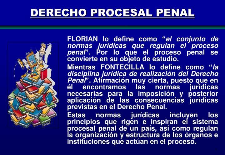 DERECHO PROCESAL PENAL