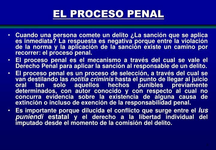 EL PROCESO PENAL