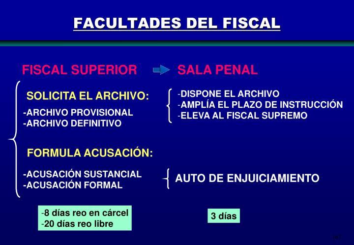 FACULTADES DEL FISCAL