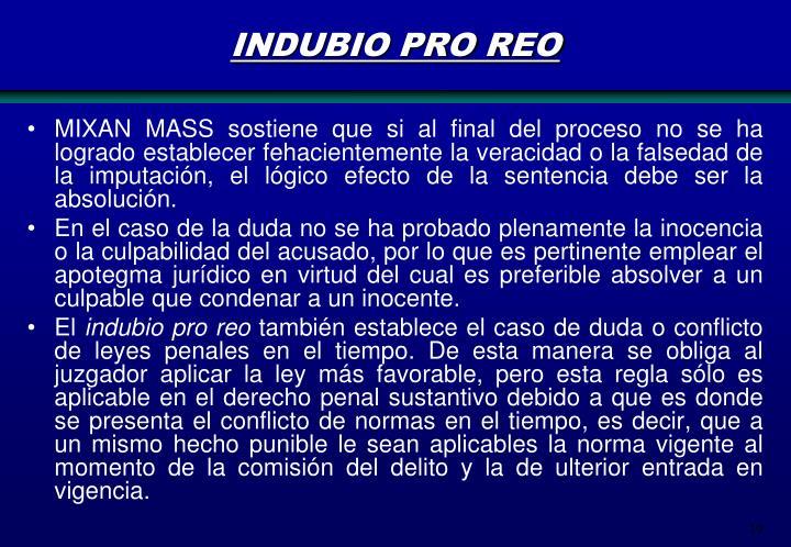 INDUBIO PRO REO