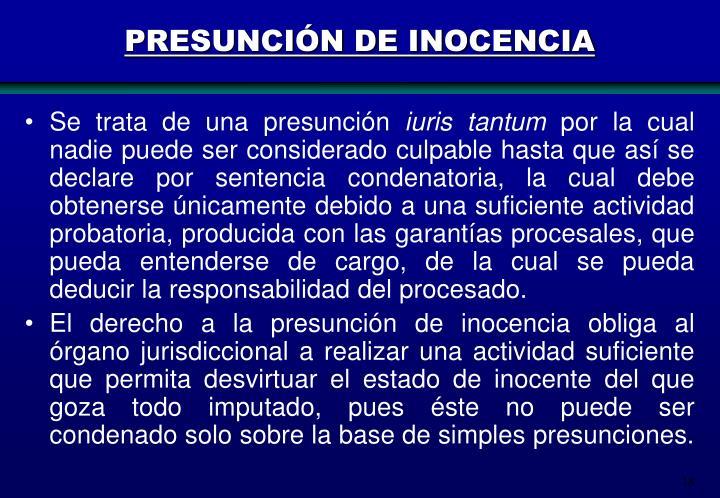 PRESUNCIÓN DE INOCENCIA