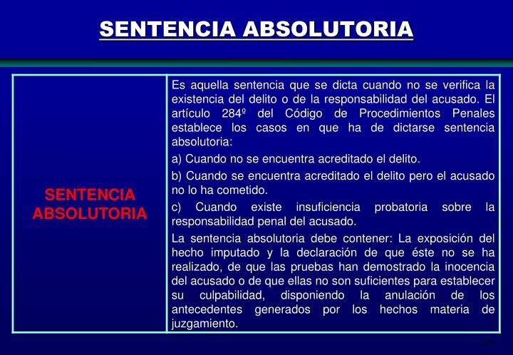 SENTENCIA ABSOLUTORIA