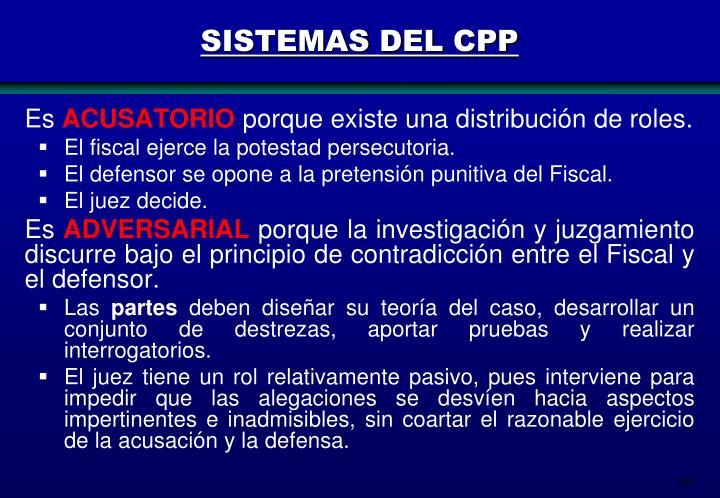 SISTEMAS DEL CPP