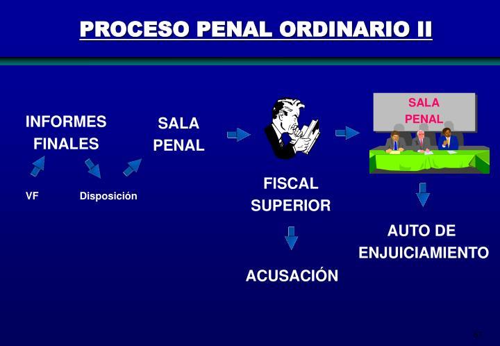 PROCESO PENAL ORDINARIO II