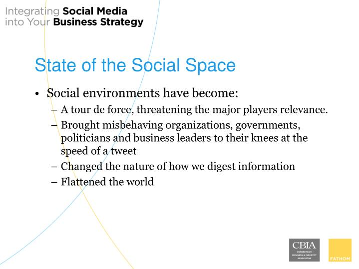 State of the Social Space