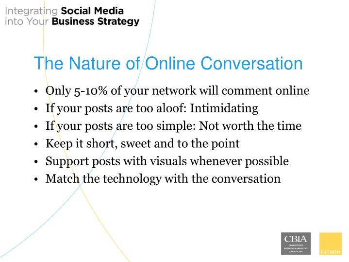 The Nature of Online Conversation