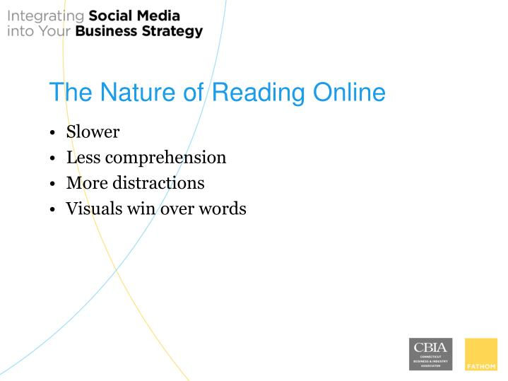 The Nature of Reading Online