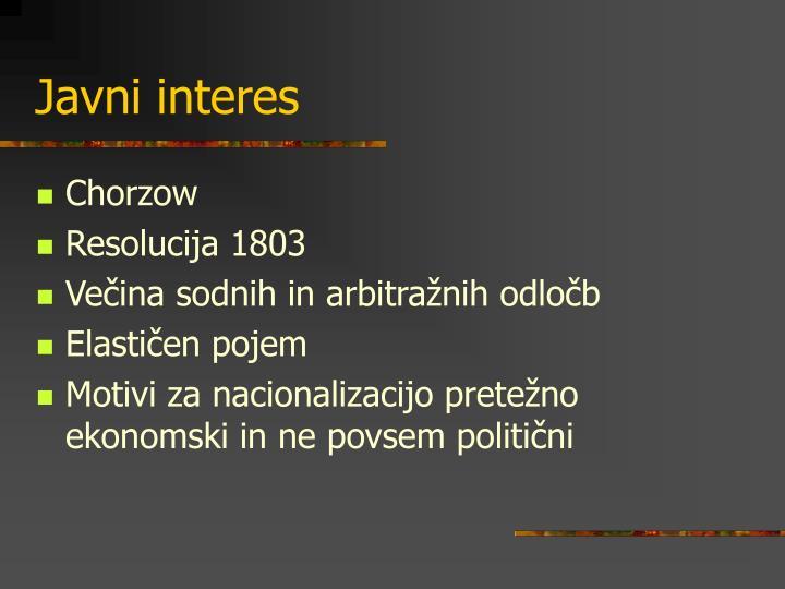 Javni interes