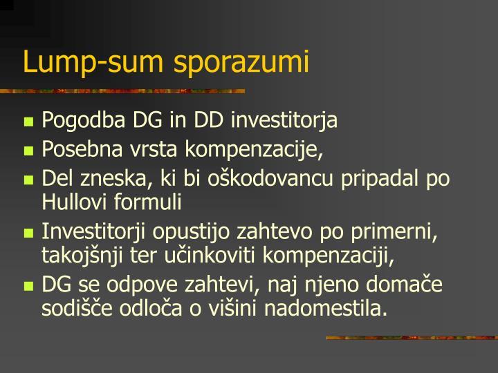 Lump-sum sporazumi