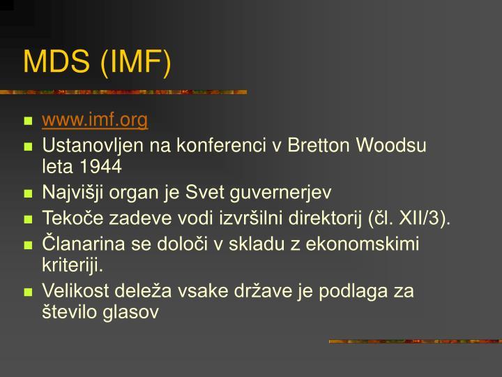 MDS (IMF)