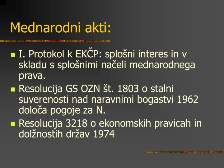 Mednarodni akti: