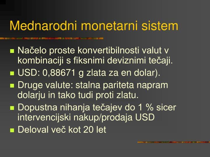 Mednarodni monetarni sistem
