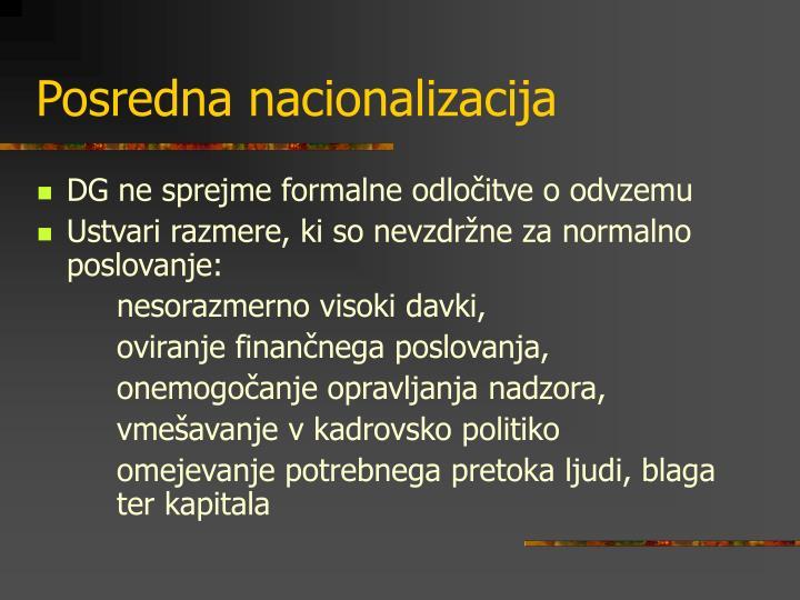 Posredna nacionalizacija