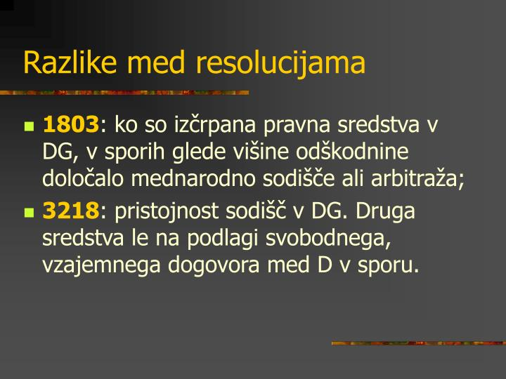 Razlike med resolucijama