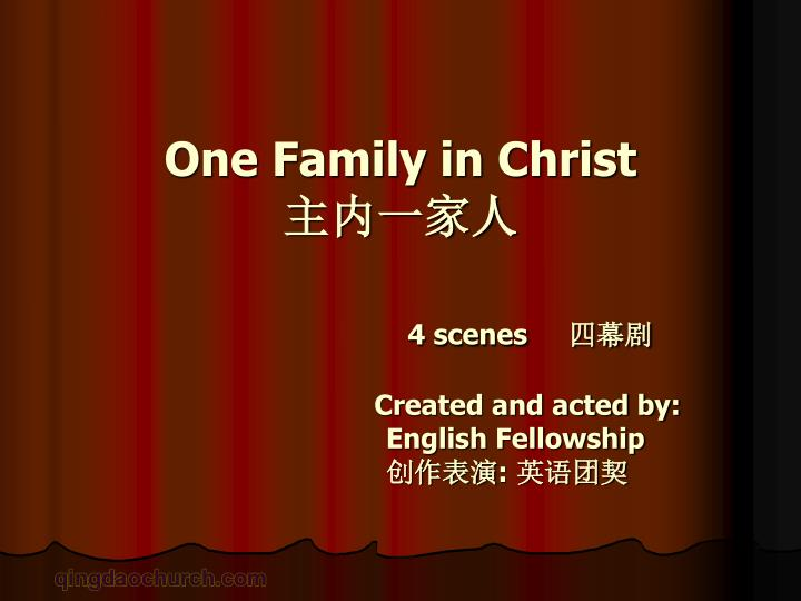 One Family in Christ