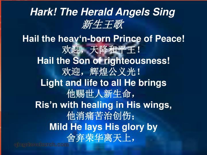 Hail the heav'n-born Prince of Peace!