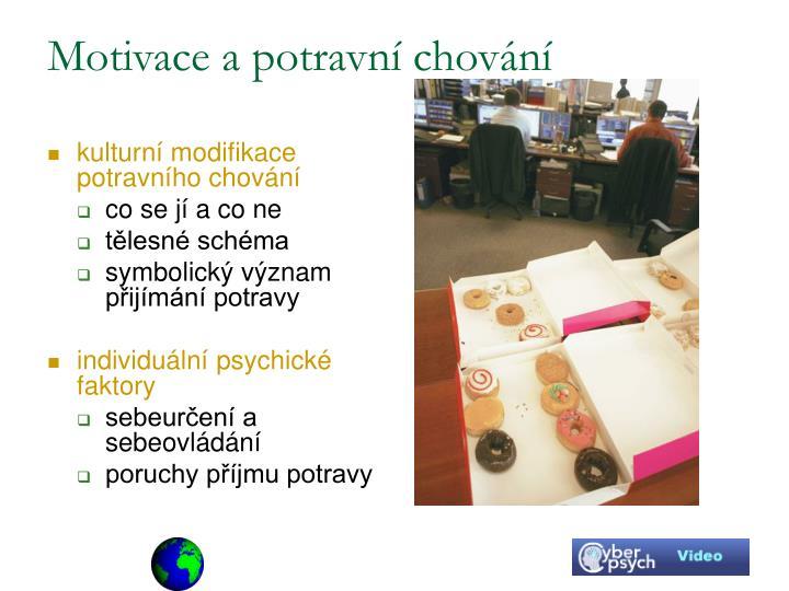 Motivace a potravní chování