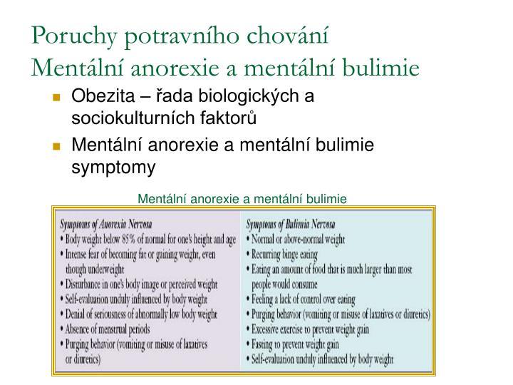 Poruchy potravního chování