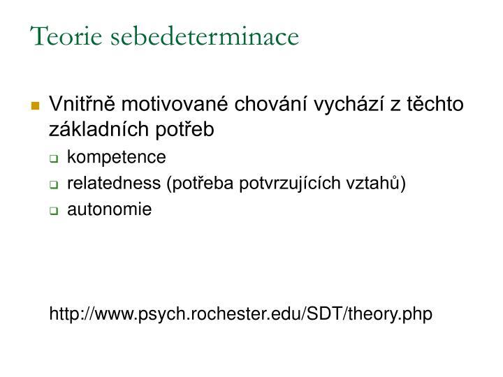 Teorie sebedeterminace
