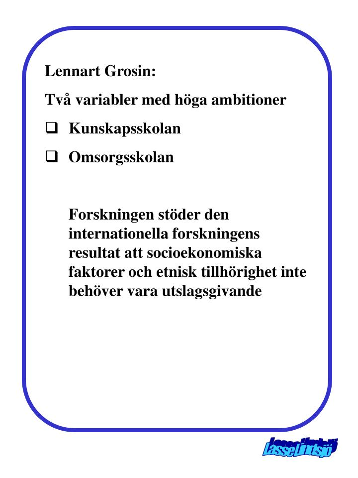 Lennart Grosin: