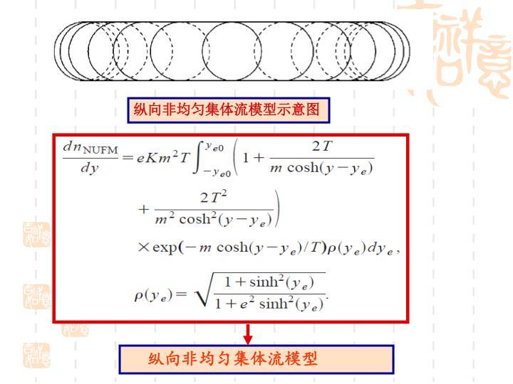 纵向非均匀集体流模型示意图