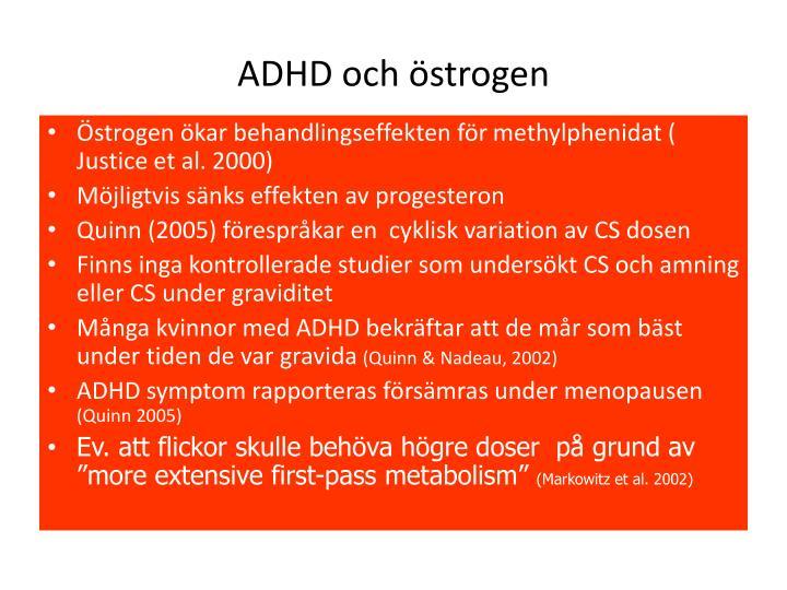 ADHD och östrogen