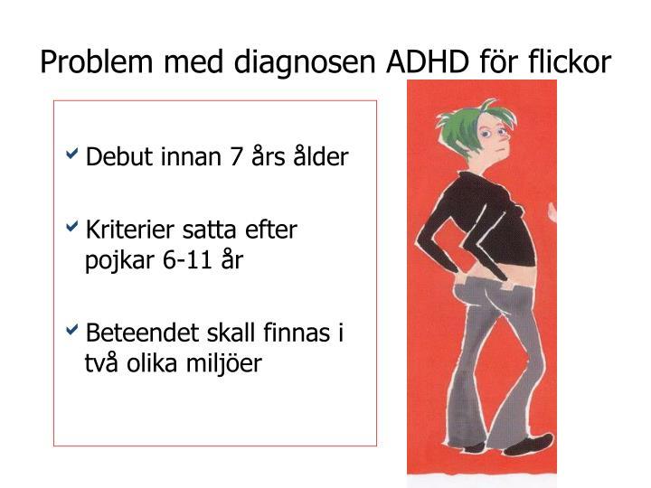 Problem med diagnosen ADHD för flickor