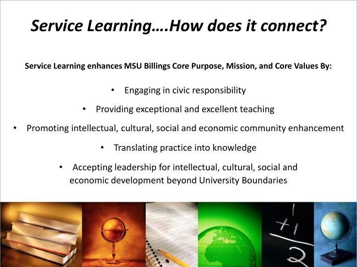 Service Learning….How does it connect?
