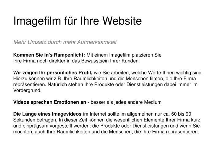 Imagefilm f r ihre website