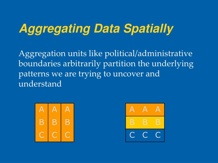 Aggregating Data Spatially